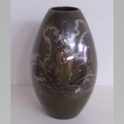 金銀象嵌花瓶櫻花人物模様