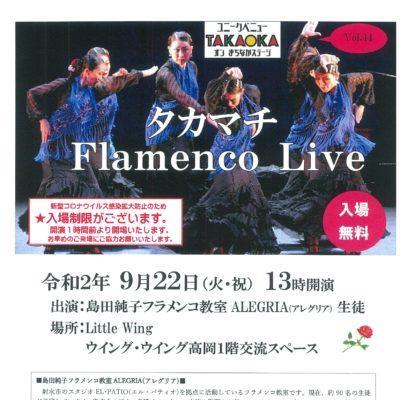 ユニークベニューTAKAOKA Vol.44 タカマチ Flamenco Live
