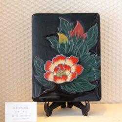 牡丹彩色硯箱