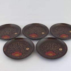 銘々皿 5枚組(古代塗)