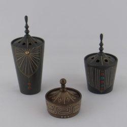 銀線と瑪瑙象嵌香炉(大)