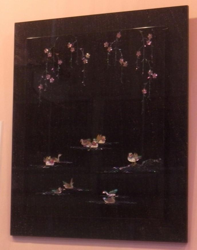 パネル 下垂れ桜オシ鳥