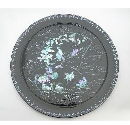 飾皿 水辺の風景
