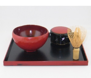 乾漆抹茶碗