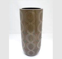 糸象嵌丸つなぎ鋳銅花器